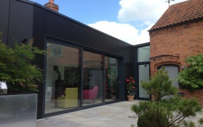 Sliding Doors with Glass Link